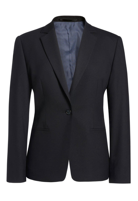 2326 - Cannes Tailored Fit Jacket Ladies Suit Jacket Brook Taverner Black 4 Regular