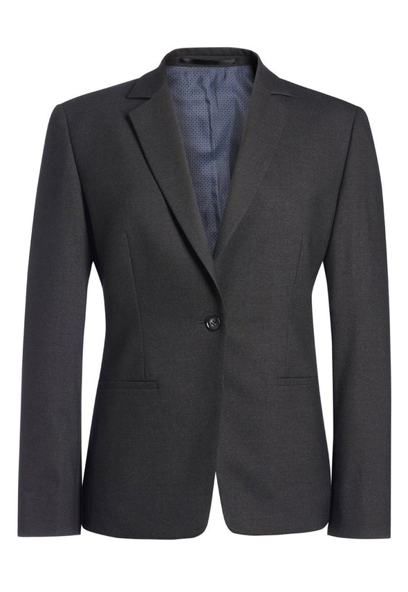 2326 - Cannes Tailored Fit Jacket Ladies Suit Jacket Brook Taverner Charcoal 4 Regular