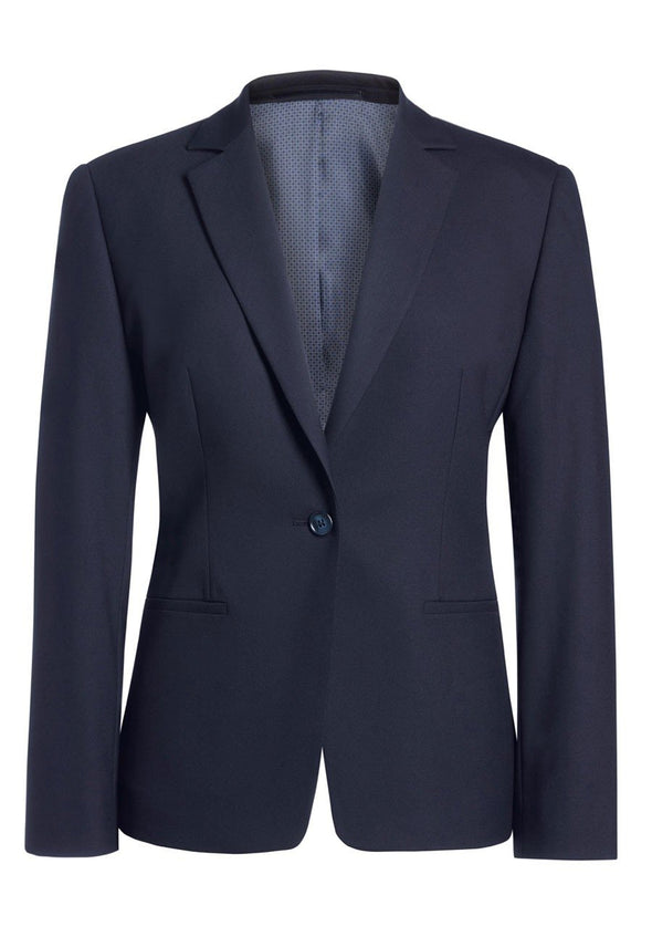 2326 - Cannes Tailored Fit Jacket Ladies Suit Jacket Brook Taverner Navy 4 Regular