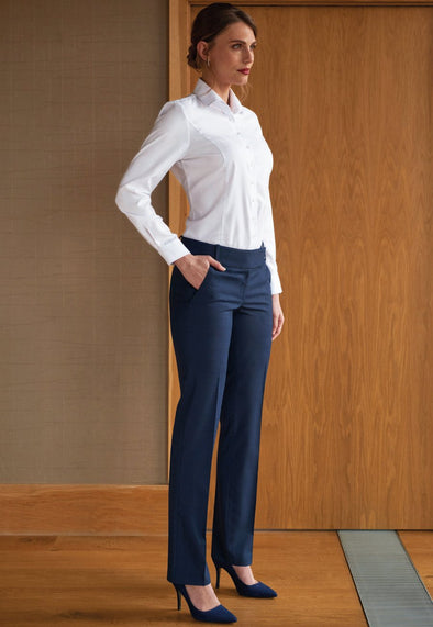 2332 - Genoa Signature Tailored Leg Trouser Ladies Suit Trouser Brook Taverner