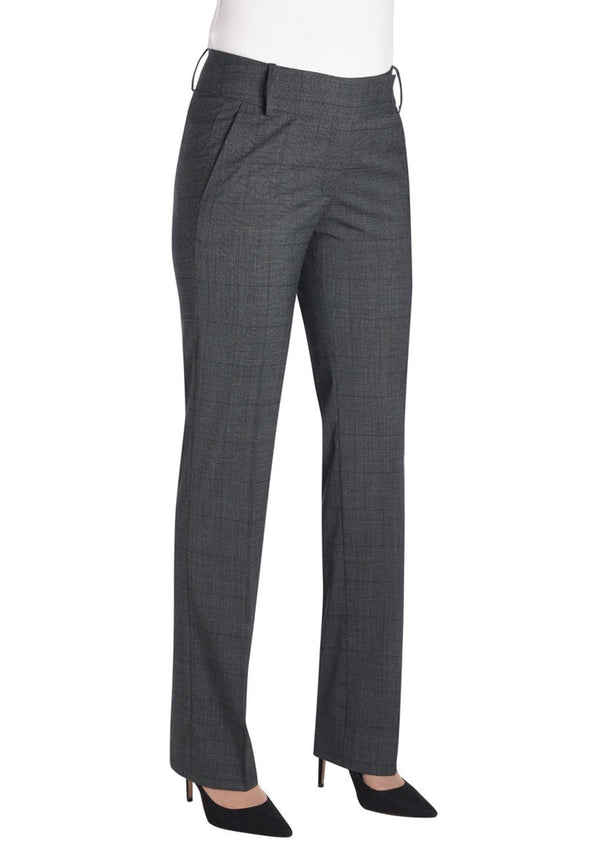 2332 - Genoa Signature Tailored Leg Trouser Ladies Suit Trouser Brook Taverner Grey Check 6 Short