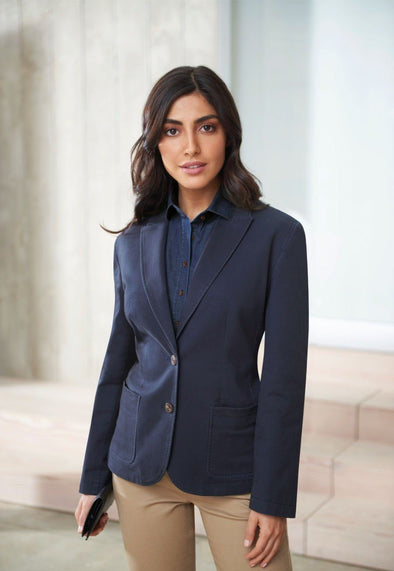 2336 - Ottawa Chino Jacket Ladies Suit Jacket Brook Taverner Navy 6 Regular