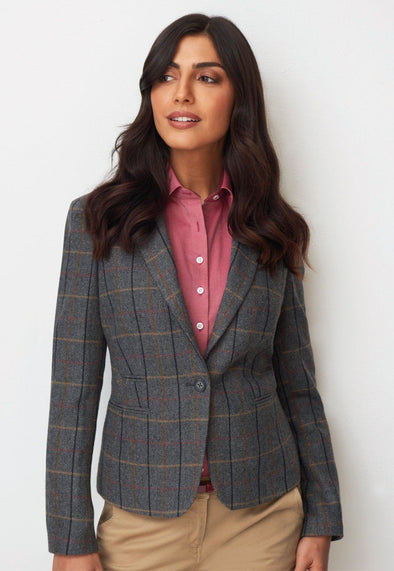 2344 - Montreal Tweed Jacket Ladies Suit Jacket Brook Taverner Grey/Brown 6 Regular