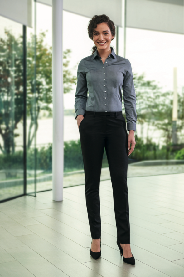 *2349 - Paris Slim Fit Trouser Ladies Suit Trouser Brook Taverner