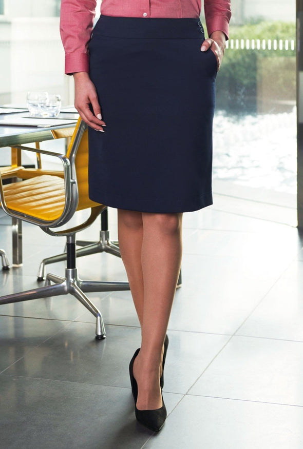 2352 - Merchant A-Line Skirt Skirts Brook Taverner Navy 6 Regular