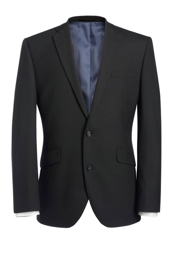 "3833 - Dijon Tailored Fit Jacket Mens Suit Jacket Brook Taverner Black 34"" Regular"