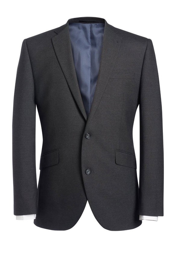 "3833 - Dijon Tailored Fit Jacket Mens Suit Jacket Brook Taverner Charcoal 34"" Regular"