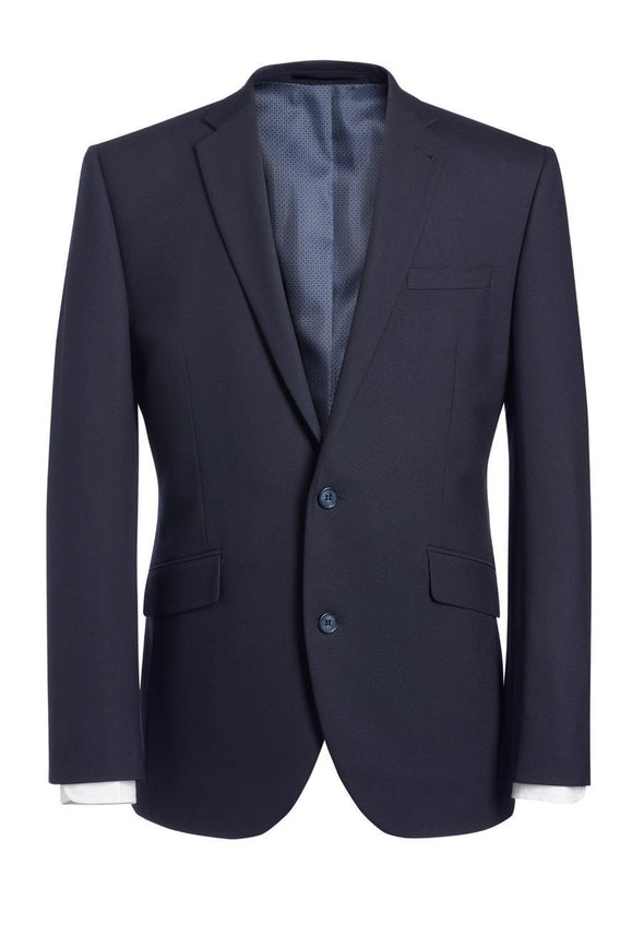 "3833 - Dijon Tailored Fit Jacket Mens Suit Jacket Brook Taverner Navy 34"" Regular"