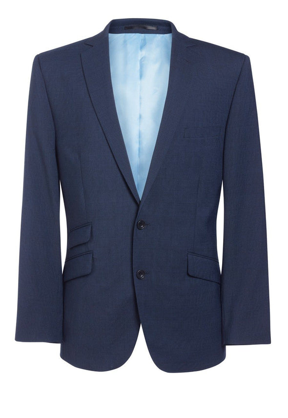 "3834 - Cassino Signature Slim Fit Jacket Mens Suit Jacket Brook Taverner Navy Check 34"" Regular"