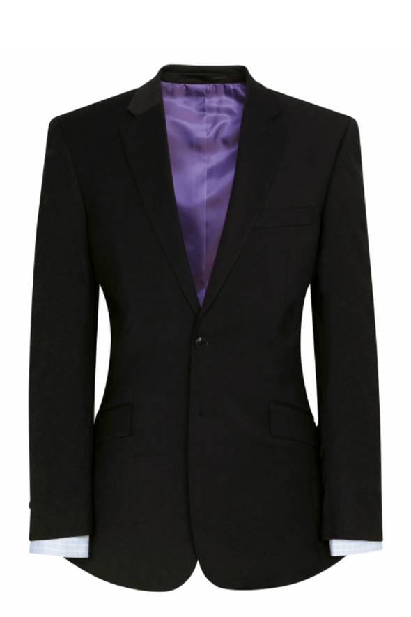 5647 - Avalino Tailored Fit Jacket Mens Suit Jacket Brook Taverner Black 34 Regular