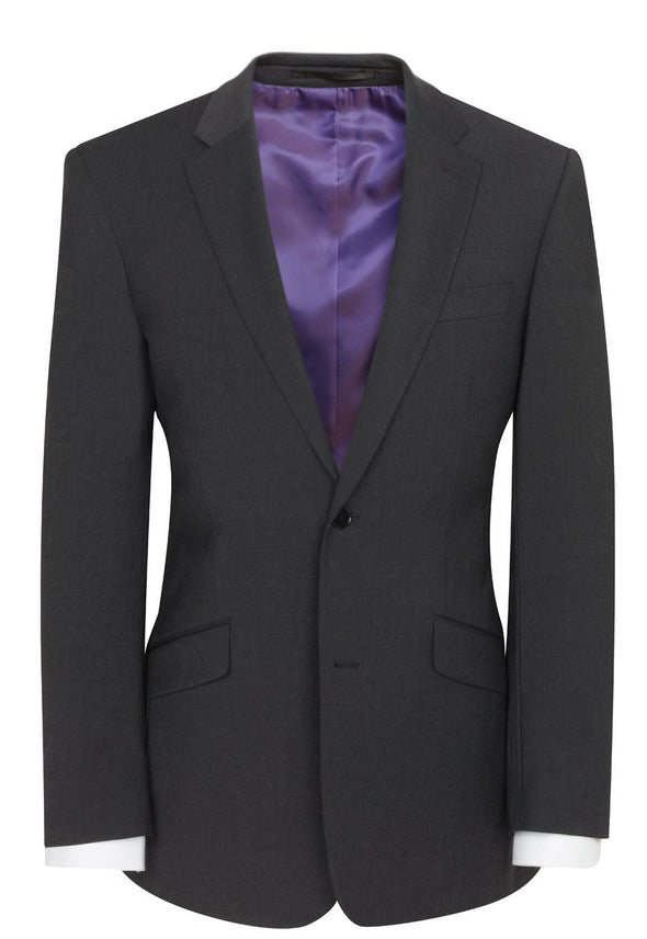 5647 - Avalino Tailored Fit Jacket Mens Suit Jacket Brook Taverner Charcoal 34 Regular