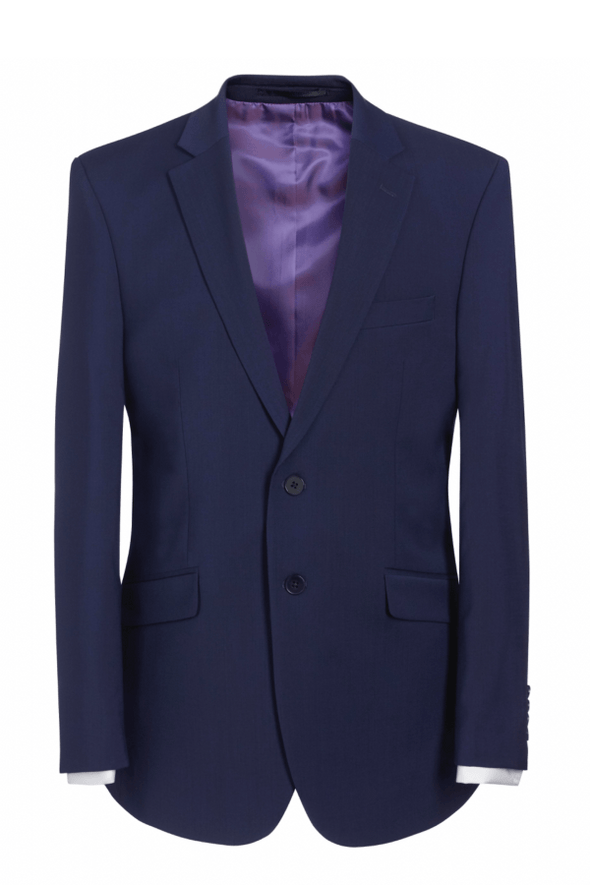 5647 - Avalino Tailored Fit Jacket Mens Suit Jacket Brook Taverner Mid Blue 34 Regular