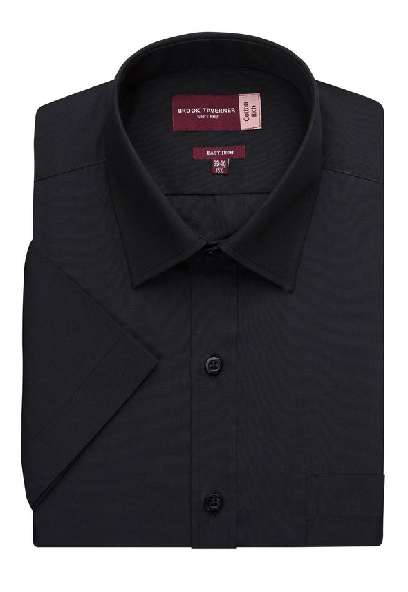 7541 - Rosello Classic Fit Shirt Mens Short Sleeve Shirts Brook Taverner Black 14.5""