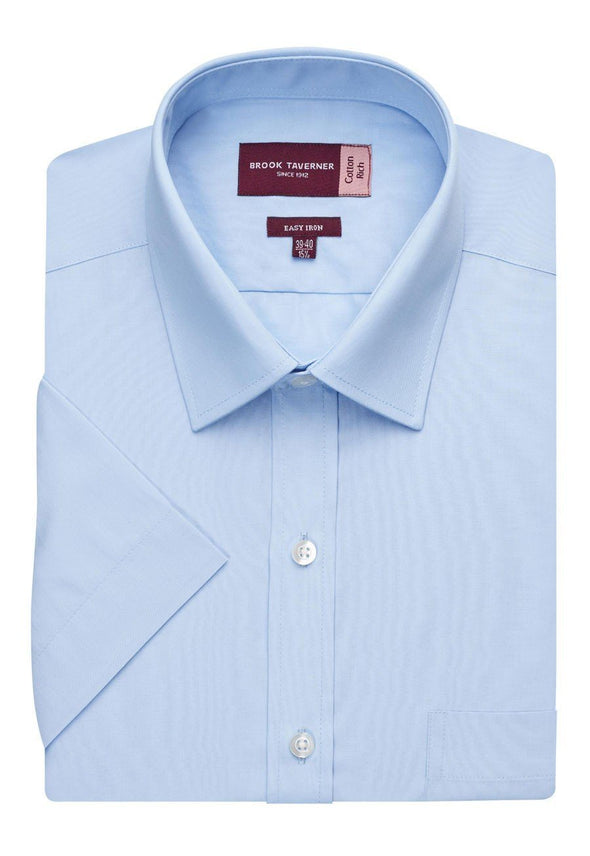 7541 - Rosello Classic Fit Shirt Mens Short Sleeve Shirts Brook Taverner Blue 14.5""