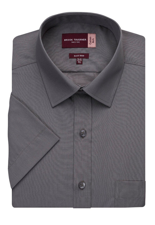 7541 - Rosello Classic Fit Shirt Mens Short Sleeve Shirts Brook Taverner Grey 14.5""