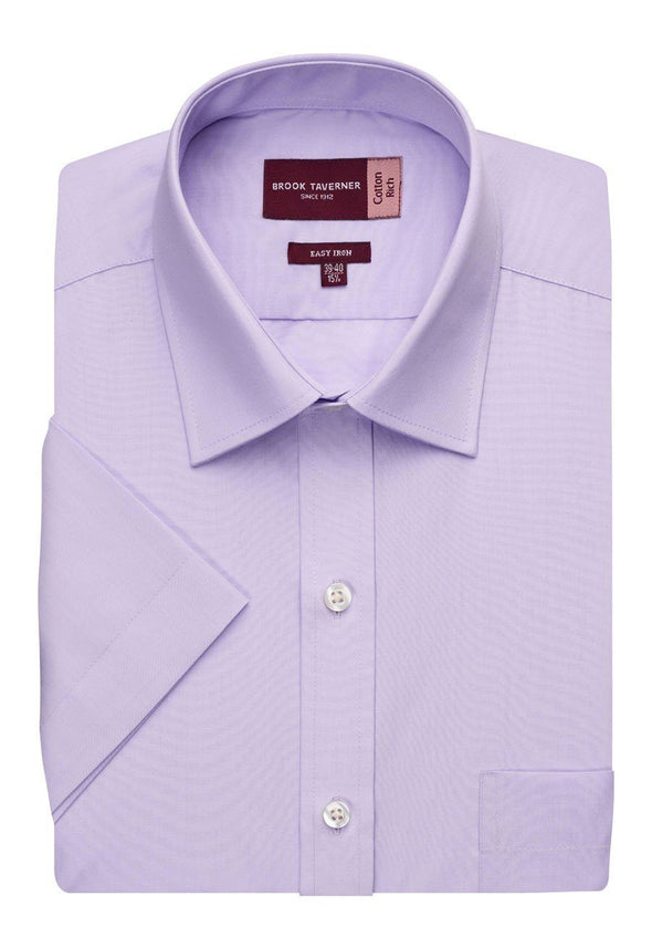 7541 - Rosello Classic Fit Shirt Mens Short Sleeve Shirts Brook Taverner Lilac 14.5""