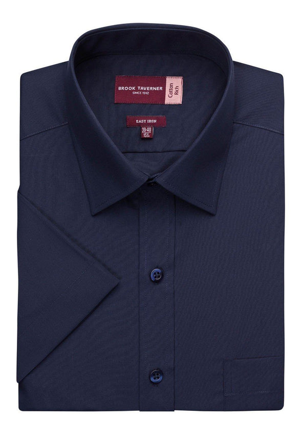 7541 - Rosello Classic Fit Shirt Mens Short Sleeve Shirts Brook Taverner Navy 14.5""