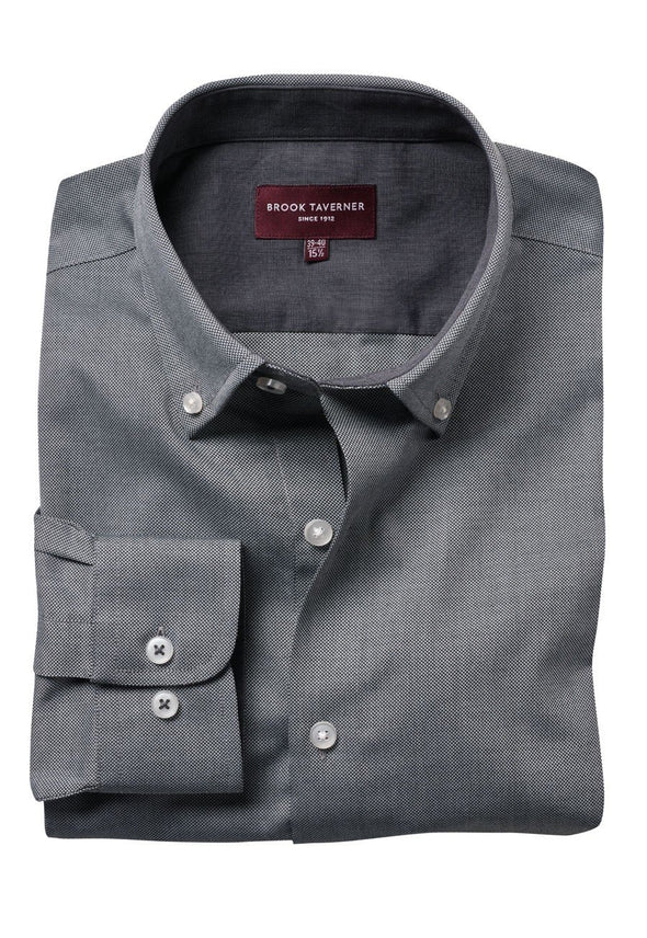 7882 - Toronto Shirt Mens Long Sleeve Shirts Brook Taverner Grey 14""