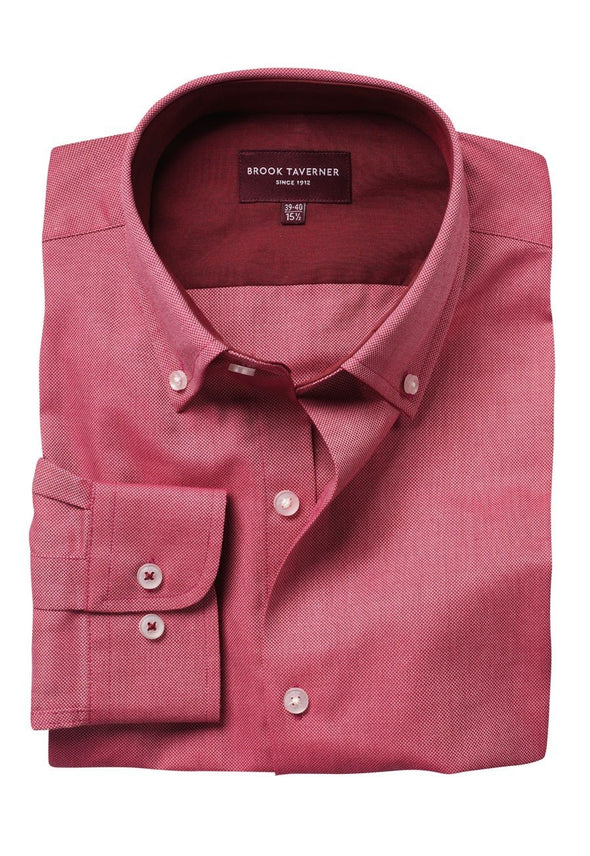 7882 - Toronto Shirt Mens Long Sleeve Shirts Brook Taverner Red 14""