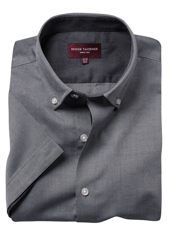7883 - Calgary Shirt Mens Short Sleeve Shirts Brook Taverner Grey 14.5""