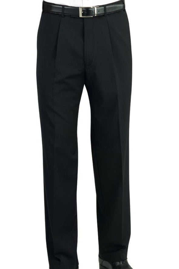 8314 - Imola Single Pleat Trouser (Unfinished) Brook Taverner Navy 28 Unfinished
