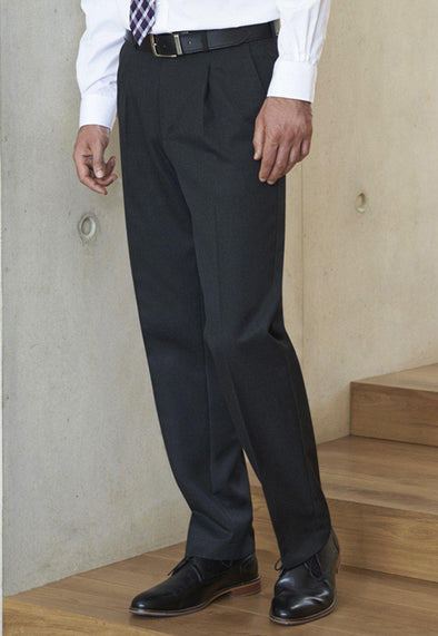 *8515 - Delta Single Pleat Trouser Mens Suit Trouser Brook Taverner