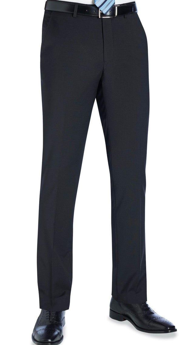 8655 - Cassino Slim Fit Trouser (Long) Brook Taverner Black 28 Long
