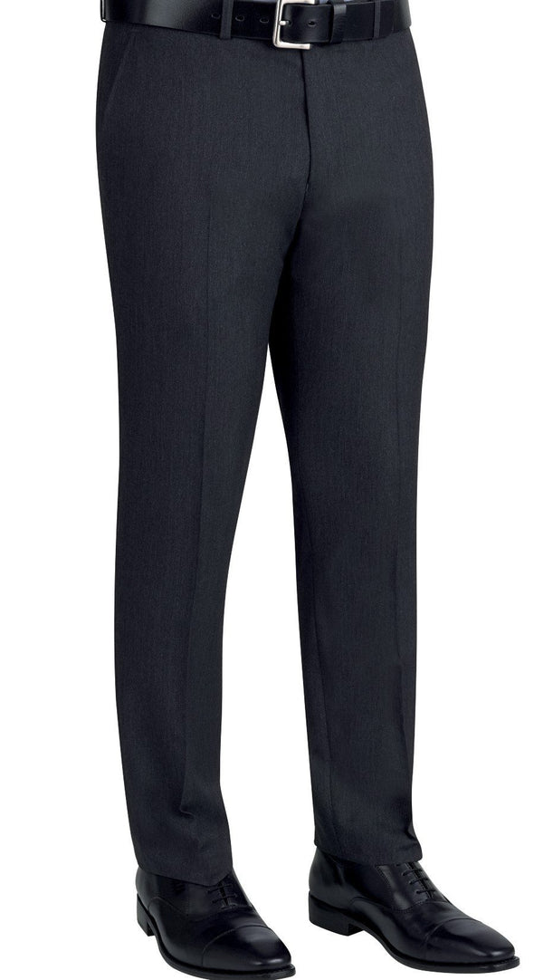 8655 - Cassino Slim Fit Trouser (Long) Brook Taverner Charcoal 28 Long