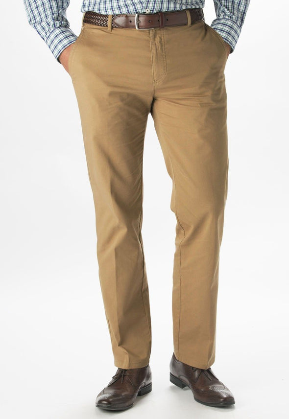 "8807 - Miami Slim Fit Chino Mens Chinos Brook Taverner Beige 28"" Short"