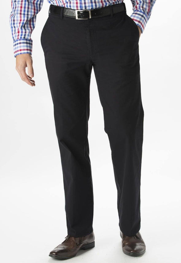 "8807 - Miami Slim Fit Chino Mens Chinos Brook Taverner Black 28"" Short"