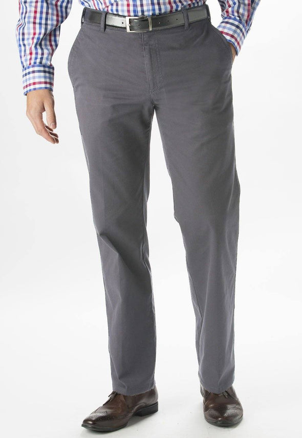 "8807 - Miami Slim Fit Chino Mens Chinos Brook Taverner Grey 28"" Short"
