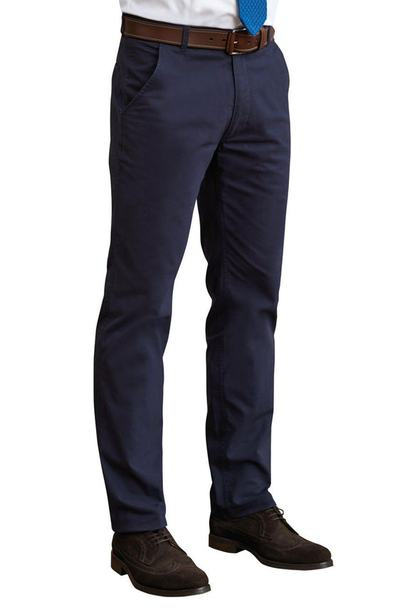 "8807 - Miami Slim Fit Chino Mens Chinos Brook Taverner Navy 28"" Short"