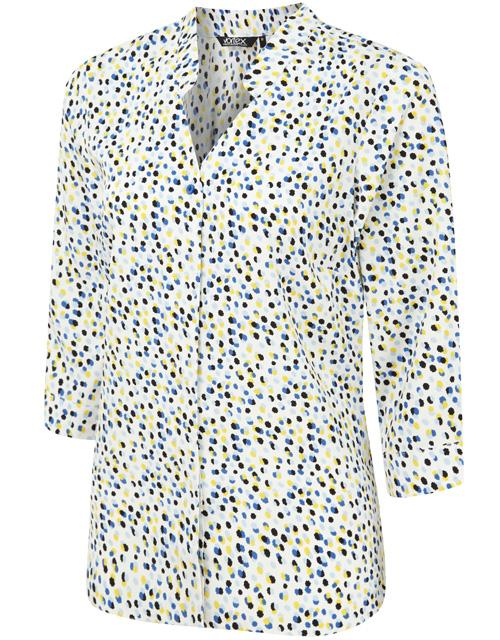 April Blouse Blouses Vortex Designs Yellow/Blue 6
