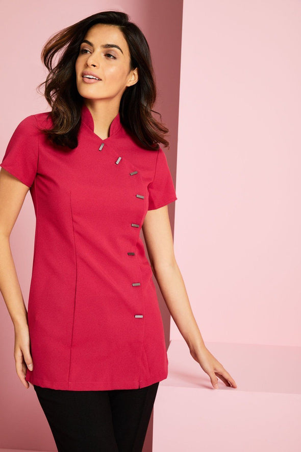 Asymmetrical Tunic Beauty Tunics Simon Jersey Hot Pink 6