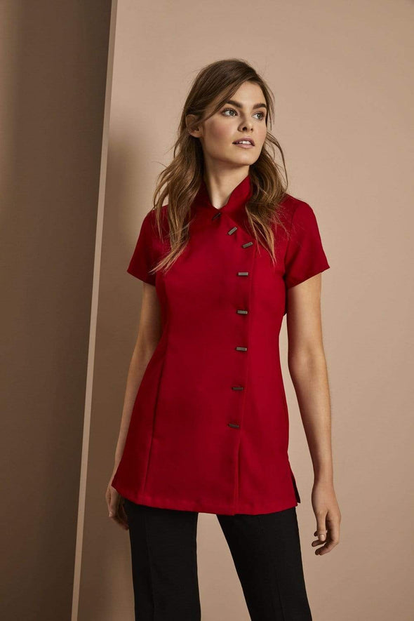 Asymmetrical Tunic Beauty Tunics Simon Jersey Red 6