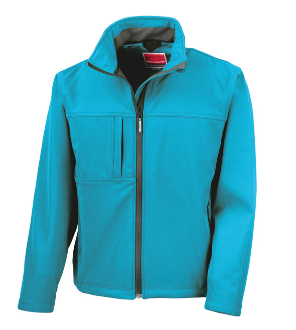Classic Soft-shell Jacket Mens Softshell Jackets Result Azure S