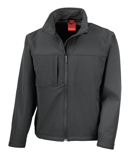 Classic Soft-shell Jacket Mens Softshell Jackets Result Black S