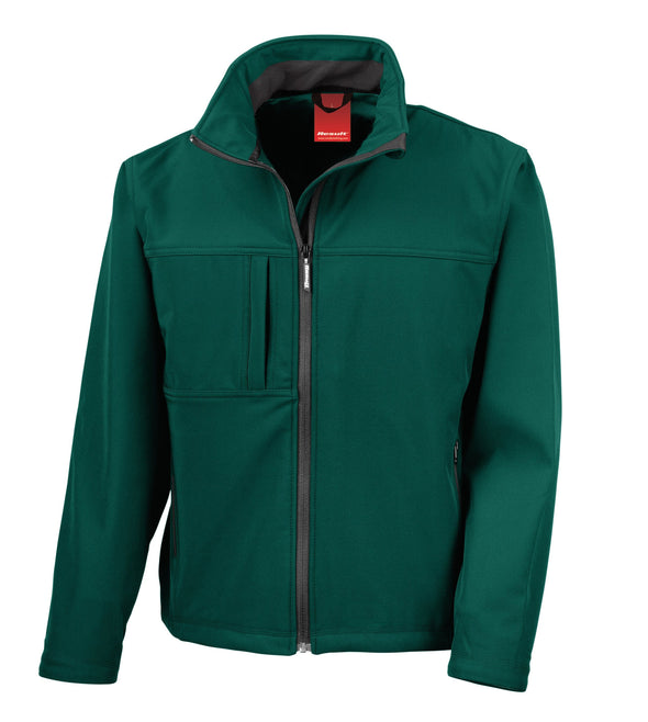 Classic Soft-shell Jacket Mens Softshell Jackets Result Bottle Green S