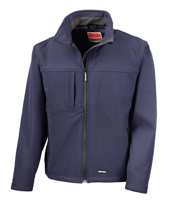 Classic Soft-shell Jacket Mens Softshell Jackets Result Navy S