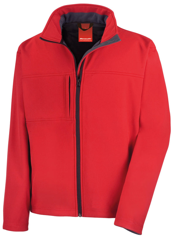 Classic Soft-shell Jacket Mens Softshell Jackets Result Red S