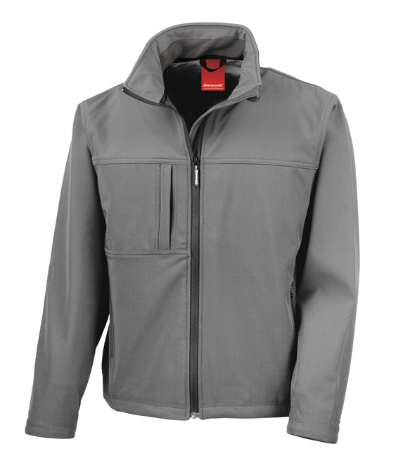 Classic Soft-shell Jacket Mens Softshell Jackets Result WG Grey S