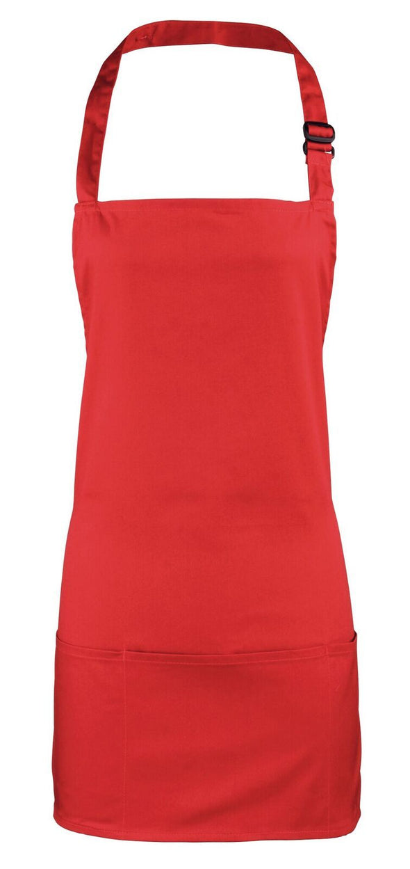 Colours 2-in-1 Apron Aprons Premier Red
