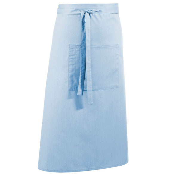 Colours Bar Apron Aprons Premier Light Blue
