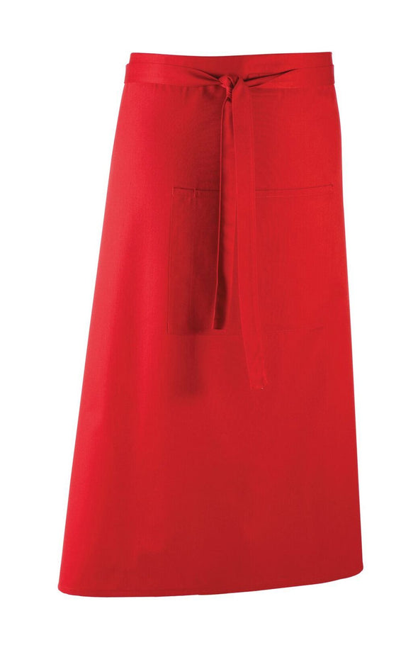 Colours Bar Apron Aprons Premier Red