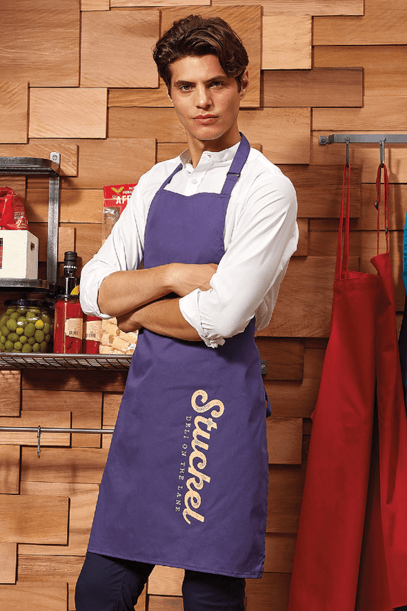 Colours Bib Apron - No pocket Aprons Premier