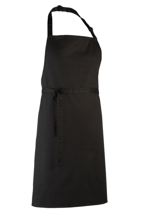 Colours Bib Apron - No pocket Aprons Premier Black