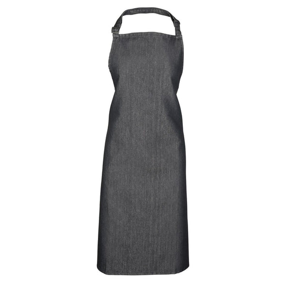 Colours Bib Apron - No pocket Aprons Premier Black Denim.