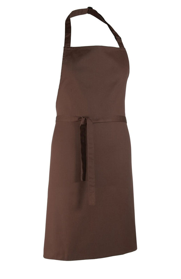 Colours Bib Apron - No pocket Aprons Premier Brown