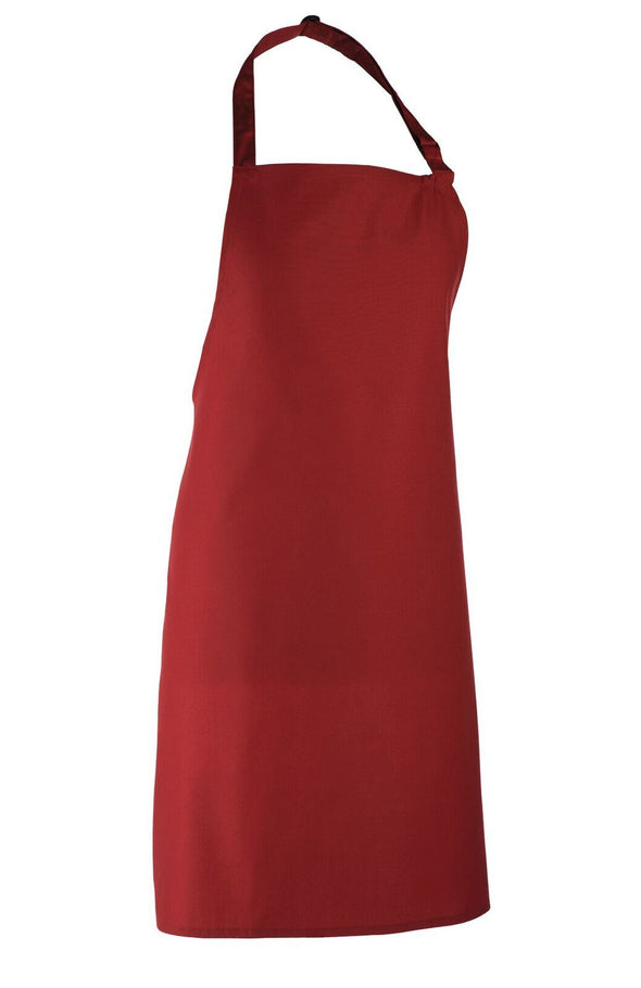 Colours Bib Apron - No pocket Aprons Premier Burgundy