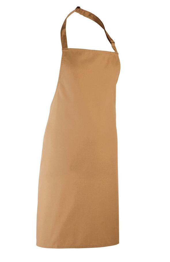 Colours Bib Apron - No pocket Aprons Premier Camel